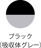 カラー:ブラック (吸収体グレー)