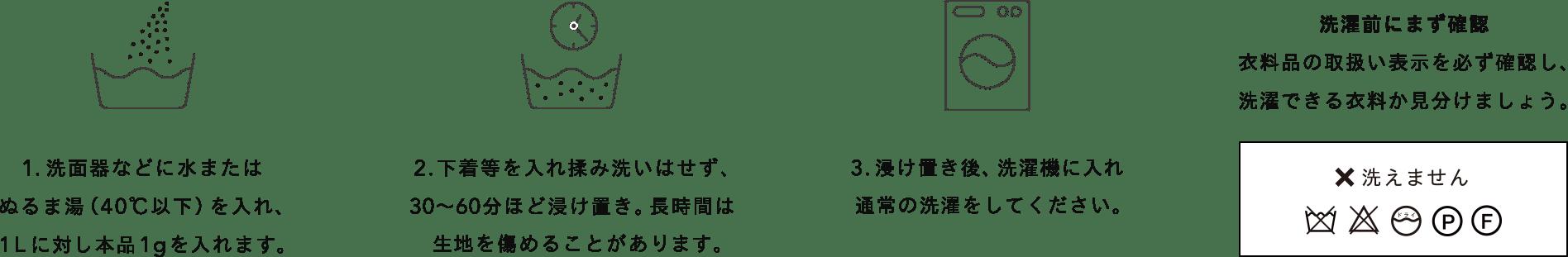 Be-A Japan/ベア ジャパン:ベア ウォッシングパウダー使い方